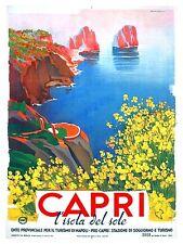 "Italy Capri Vintage Travel Poster Art Print 11x14"" Rare Hot New XR387"