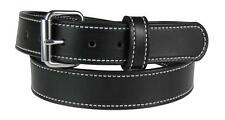 """125-ST_1-1/4"""" HEAVY DUTY STITCHED LEATHER WORK HOLSTER BELT AMISH HANDMADE 5MM"""