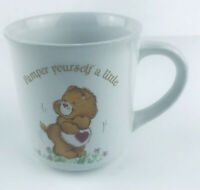 """Vintage 1983 Care Bears Coffee Mug """"Pamper Yourself a Little"""" Stoneware"""