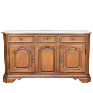 Antique French Louis XIV Oak Enfilade Sideboard 18th century