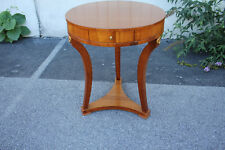 19th C. Italian Cherry Round Center Table with Drawer