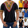 Men Hipster Hip Hop African Dashiki Crew Neck T shirt Short Sleeve Loose Tops XL