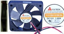 """2.36""""60mm*10mm Double Ball Bearing Fan YS/Y.S.Tech FD1260107B-2N 12VDC/12V 2wire"""
