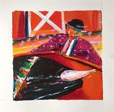 Jehan Christophe acrylique sur carton signée tauromachie Saint Jean de Luz
