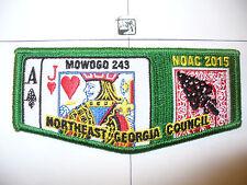 OA Mowogo 243,2015 NOAC,Jack Of Hearts Poker Card Flap,GRN,NE Georgia Council,GA