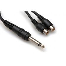 """Hosa YPR-103 1/4"""" TS Male Mono To Dual RCA Female Y Adapter +Picks"""