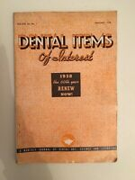 Dental Items Of Interest N° 1 A Monthly Giornale Gennaio 1938