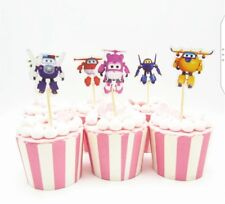 12 x Super Wings Cake Picks / Cupcake Toppers Birthday Cake Decorations