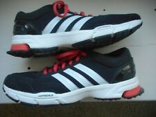 Adidas Running Shoes 7.5 Black White Orange Exercise Athletic Women's #