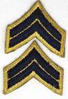 Внешний вид - US Army Goldenlite Corporal Chevron Patch Rank Insignia 2in w x 2in h pair P5085