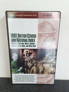 1881 BRITISH CENSUS AND NATIONAL INDEX - PC CD-ROM (25-DISC SET) - Genealogy