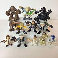 Lot of 13 Star Wars Galactic Heroes Figures Luke R2D2 Leia Darth Vader C3PO Etc