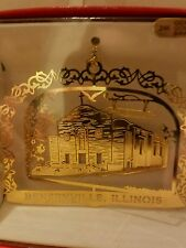St. ALEXIS Bensenville  Illinois Brass Christmas Ornament