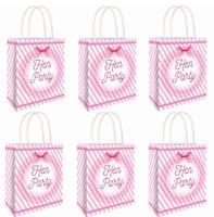 6 x HEN PARTY BAG Printed Paper Bag WEDDING Gift Bag BRIDE TRIBE Bags C51 397