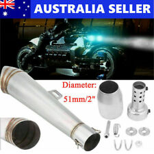 Universal Motorcycle Exhaust Tail Pipe Muffler Tailpipe Tip Stainless Steel Hot