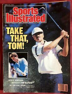 Sports Illustrated June 29, 1987 Scott Simpson Tom Watson U.S. Open Golf