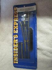 Insider's Express 302 Brass Left Hand Manual HO Scale Switch - New!!!  (2 T)