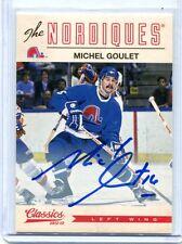 2012-13 Classics Signatures #86 Michel Goulet Nordiques Autographed Card jh11