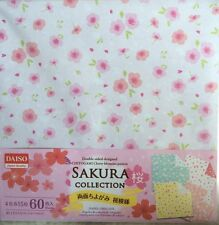 60 Sheets! Double Sided! SAKURA Origami paper 4 Japanese Patterns 15cm