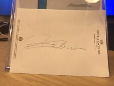 More details for emma raducanu us open champion tennis signed hotel notepad page