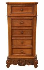 Antique French Walnut marble bedside table cupboard cabinet washstand C1910