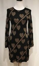 Ted Baker Joyous Heart Rose Gold Fluted Wide Bell Sleeve Sweater Dress, Ted 2