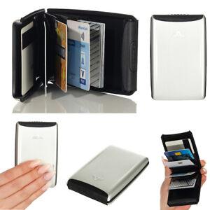 Tru Virtu Kreditkarten-Etui Geldbörse Portemonnaie Aluminium Oyster II RFID. NEU