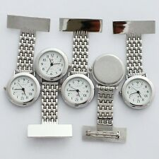 10PCS Bulk Lot Of Fob Silver Nurse Doctor Pocket Pendant Quartz Watch GL46T