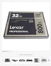 Lexar Professional 32GB CF Compact Flash Memory Card 800X 120MB/s UDMA7 VPG-20