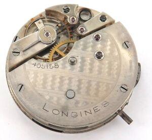 .SCARCE c1885 LONGINES LEVER SET POCKET WATCH MOVEMENT & DIAL.