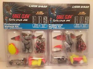 2x Eagle Claw 85 piece Walleye Kit Lindy indiana  blades walking sinkers floats