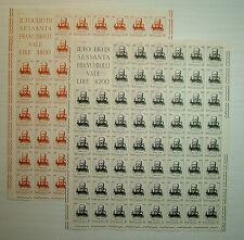 1964  ITALIA  30+70 lire Galileo Galilei  fogli  interi MNH**