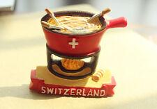 Switzerland Swiss Cheese Fondue Tourist Travel Souvenir 3D Resin Fridge Magnet
