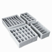 4pcs Closet Underwear Organizer set Foldable Storage Box Drawer Divider Kit