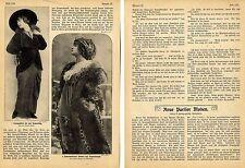 Neue Pariser Moden. Foto-Report aus der Kaiserzeit von 1912