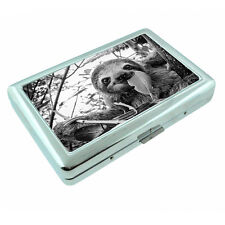 Cute Sloth Images D9 Silver Metal Cigarette Case RFID Protection Wallet