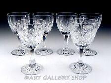 "Royal Brierley Cut Crystal GAINSBOROUGH 5.5"" WINE GOBLETS GLASSES Set of 6"