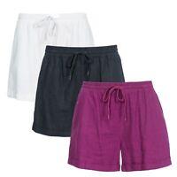 Trespass Belotti Womens Summer Camping Hiking Shorts Linen Blend