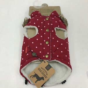 """New House Of Paws Dog Jacket Size Small/12"""" Red Polka Dot Gilet HP941RS 182284"""