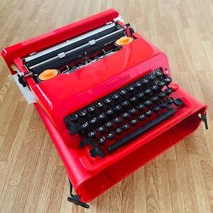 Vintage Olivetti Valentine 'S' Portable Red Typewriter~Ettore Sottass Ex. Cond