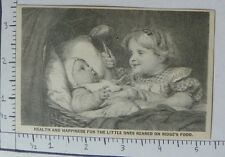 RIDGE'S FOOD WOOLRICH&CO PALMER MASS BABY CRADLE YOUNG CHILD HOLDING RATTLE 1572