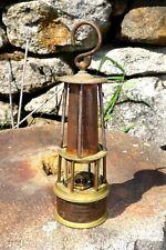 Miners Davy Safety Lamp Val St. Lambert Globe Antique Bronze & Brass