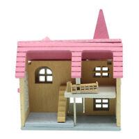MagiDeal 1:12 Scale DIY Dollhouse Miniature Furniture Landscape Model Pink