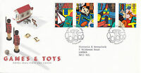 16 MAY 1989 TOYS AND GAMES ROYAL MAIL FIRST DAY COVER LEEDS SHS