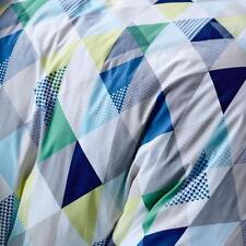 ADAIRS KIDS Blue Triangle Calgary COT/JUNIOR BED QUILT COVER SET BNIP geometric