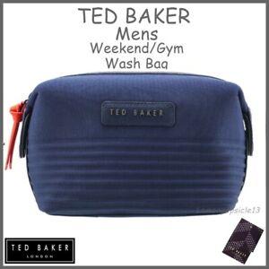 TED BAKER Mens Wash Bag Navy Blue Toilet Bag