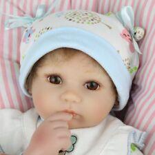 16''Vinyl Silicone Reborn Dolls Lifelike Preemie Newborn Boy Baby Doll Xmas Gift