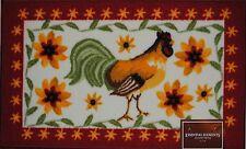 Country Rooster Rug~Red~Chicken Mat~Star~Daisy Flower~Kitchen~Bath~Door~NEW