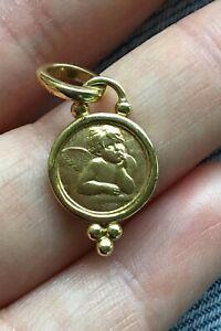 Temple St. Clair angel pendant, 18k gold angel pendant