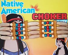 Native American Wild West Red Indian Choker Necklace Fancy Dress Accessory